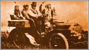 Geronimo in a Cadillac at the Worlds Fair
